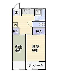 石井ビル[4階]の間取り