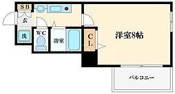 ドミール桜川II[3階]の間取り