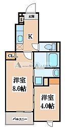 クリスタルガーデン カラー[1階]の間取り