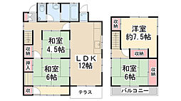 [一戸建] 兵庫県宝塚市花屋敷松ガ丘 の賃貸【/】の間取り