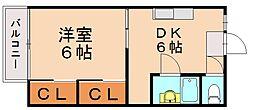 レピュートセンダ[2階]の間取り