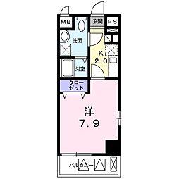 西武新宿線 狭山市駅 バス10分 上広瀬下車 徒歩2分の賃貸マンション 3階1Kの間取り