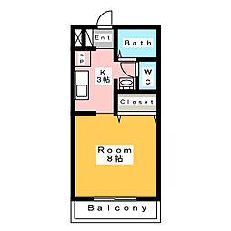 ビューラー椿[1階]の間取り