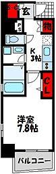 福岡市地下鉄空港線 東比恵駅 徒歩10分の賃貸マンション 3階1Kの間取り