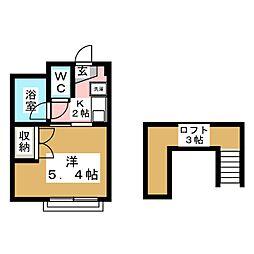 ミチコーポ[1階]の間取り