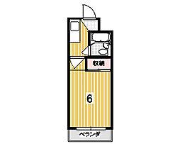 サンコーポハットリ[307号室]の間取り