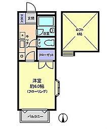リルパイン越谷A棟[2階]の間取り