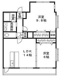 プライム千草台[1階]の間取り