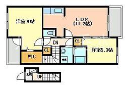 ピアチェーレ2[2階]の間取り