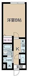 JR常磐線 金町駅 徒歩10分の賃貸アパート 2階1Kの間取り