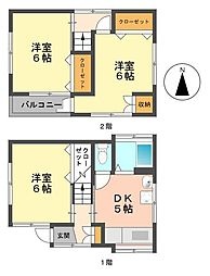 [一戸建] 東京都江戸川区春江町3丁目 の賃貸【/】の間取り