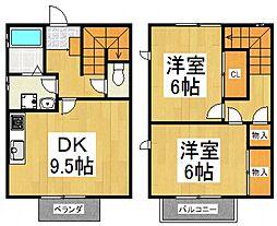 ホームウエスト[1階]の間取り
