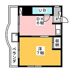 マザック千代田[6階]の間取り