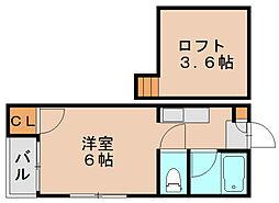 シャングリラ箱崎[2階]の間取り