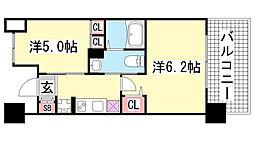 エステムプラザ神戸西5ミラージュ[2階]の間取り