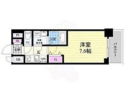 JR東海道・山陽本線 西大路駅 徒歩13分の賃貸マンション 6階1Kの間取り