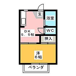 グリーン新町[2階]の間取り