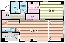 ル・コック湘南[301号室]の間取り