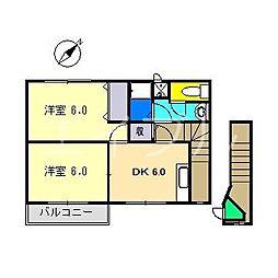 ドミール鷲尾[2階]の間取り