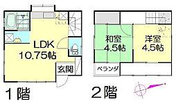 [一戸建] 埼玉県春日部市一ノ割1丁目 の賃貸【/】の間取り
