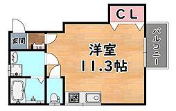 阪急神戸本線 王子公園駅 徒歩15分の賃貸アパート 1階ワンルームの間取り