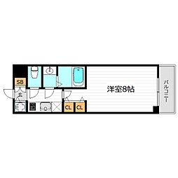 エスティメゾン京橋[14階]の間取り