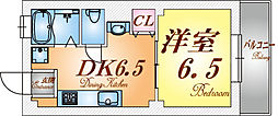 兵庫県神戸市中央区相生町4丁目の賃貸マンションの間取り