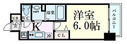 Osaka Metro御堂筋線 西中島南方駅 徒歩4分の賃貸マンション 7階1Kの間取り
