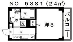 クレアツィオーネ上本町[704号室号室]の間取り