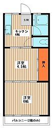 コーポ永戸[2階]の間取り