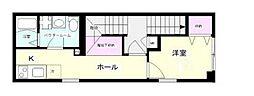 kunshi-ran(クンシラン) 2階1Kの間取り
