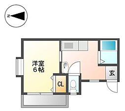 サンハイツ生駒II[3階]の間取り