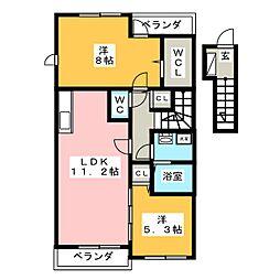 メゾン・ジュネス II[2階]の間取り