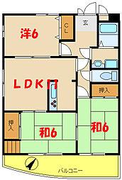 ラ・ルス西明石 1[6階]の間取り