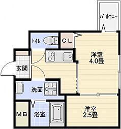 オーシャン青山[1階]の間取り