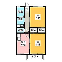 ストークホーム[1階]の間取り