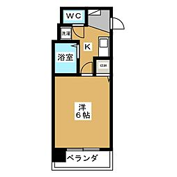 エステムコート京都烏丸[3階]の間取り