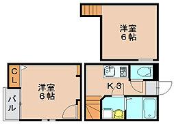 クレオ箱崎宮前壱番館[2階]の間取り