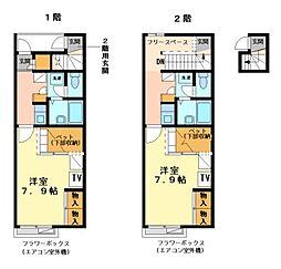 兵庫県神戸市北区藤原台中町7丁目の賃貸アパートの間取り