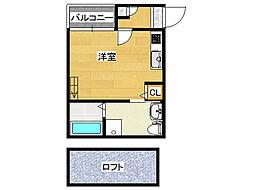 ソラーナ新今里[1階]の間取り