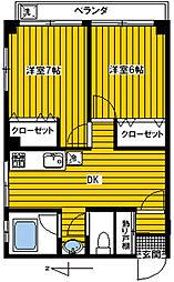 中野ハイツ[6階号室]の間取り