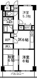 埼玉県所沢市小手指台の賃貸マンションの間取り