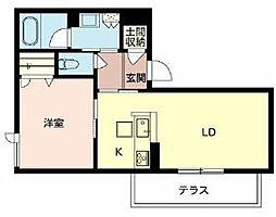 北大阪急行電鉄 千里中央駅 徒歩15分の賃貸マンション 1階2LDKの間取り