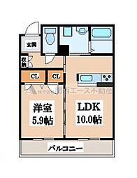 アンシャンテTATUMI[2階]の間取り