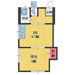 常盤ハウス[2階]の間取り