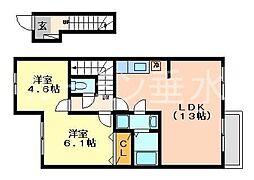 コンフォートヴィラ2[2階]の間取り