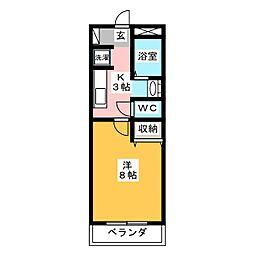 KIDOアーバンライフII[3階]の間取り