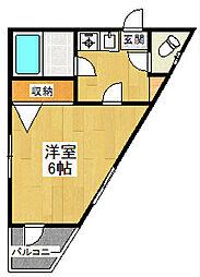 東京都狛江市岩戸北1丁目の賃貸マンションの間取り