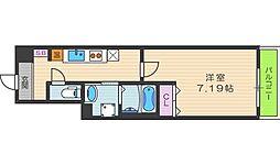 ルミエール駒川[403号室]の間取り