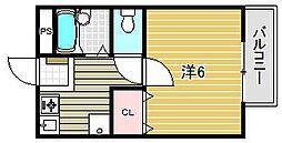パナハイツ宝西[2階]の間取り